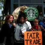 Fair Trade Protest at Starbucks